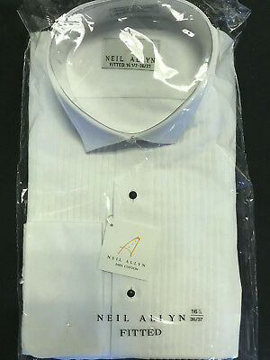 SLIM FIT 100% Cotton French Cuff Wing Collar Tuxedo Shirt (choose size)
