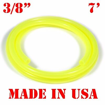 "7 Feet of 3/8"" ID Fuel Line or Water Cooling Hose Tube YELLOW"
