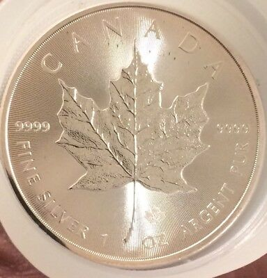 2014 1 Troy oz .9999 Fine Silver Canadian Maple Leaf $5 Coins Mint Uncirculated