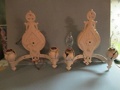 Pair of VTG ART DECO GOTHIC LINCOLN # 1831 SCONCES WALL FIXTURE 1930's