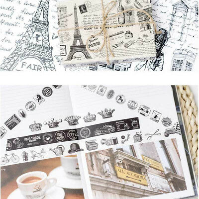 DIY Vintage Europe Washi Masking Tape 5/7 Meter Paper Sticker  Scrapbook Decor