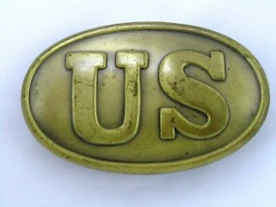 CIVIL WAR BELT BUCKLE Brass & Lead US United States Vintage Repro