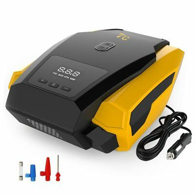 Portable Car LED Digital Tire Inflator 12V 150PSI Tyre Gauge Air Compressor Pump