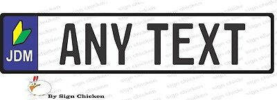 EURO STYLE  TAG BMW  European license plate, ANY TEXT, JDM