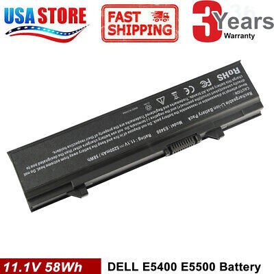 Laptop Battery for Dell Latitude E5400 E5500 E5410 E5510 KM742 PX644H