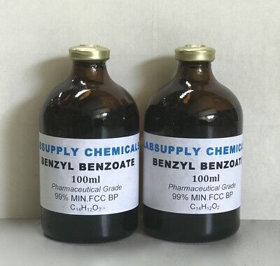 Concentrated BENZYL BENZOATE 200ml 99.8% MIN.FCC Pharma Grade - BP Crystal clear