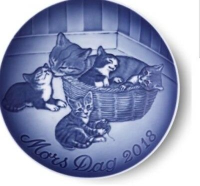 "2018 B&G Bing & Grondahl Mother's Day Plate  ""Kittens"" NIB In Stock"