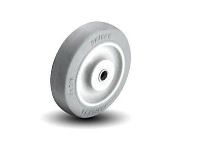 """Soft Non Marking Gray Performa Rubber Wheel 5"""" x 7/8"""" with 5/16"""" Delrin Bearing"""