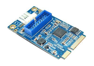 MINI PCI-E to USB3.0 Adapter Card MINI PCIE to19-pin USB 3.0 Expansion Card