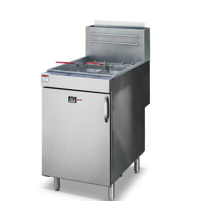 Commercial Gas Deep Fryer, Single 37L Vat 5 Burner 2 baskets  LPG