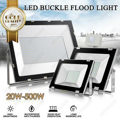 LED Flood Light 10W-500W SMD/PIR Motion Sensor Outdoor Floodlight Lamp IP65 240V
