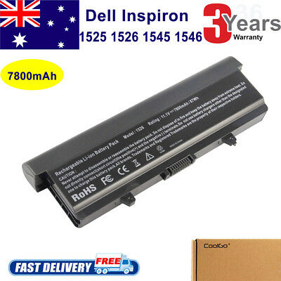 9 Cell Battery for Dell Inspiron 1525 1526 1545 1440 1750 X284G RN873 XR682