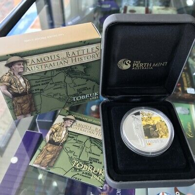 2011 Australian Famous Battles - Toburk $1 One Dollar 1oz Silver Proof Coin