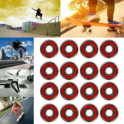 8pc ABEC)9/ABEC)7 Bearings Rollen Kugellager für Skateboard Longboard·Chromstahl