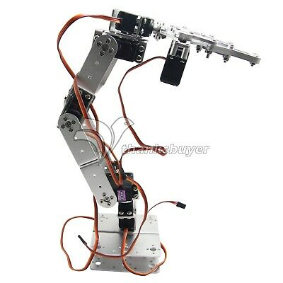 Mechanical 6DOF Robot Arm Clamp Claw Kit with Servo Servo Horn for Arduino