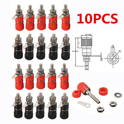 10pcs/Lot Binding Post Female Socket Jack For 4mm Banana Plug Connector Adapter