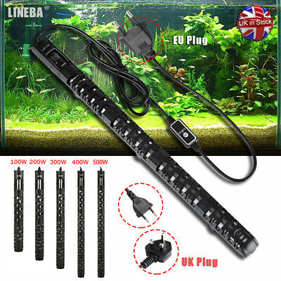 Digital Submersible Aquarium Heater 100W - 500W Fish Tank Thermostat EU UK PLUG