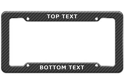 Personalized Custom Carbon Fiber License Plate Frame