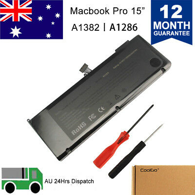 "Battery for Apple MacBook Pro Unibody 15 15"" inch i7 A1382 A1286 Early 2011 2012"