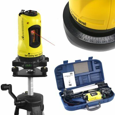 360° Rotary Laser Level Self-Levelling Cross Line Measuring Tripod Stand Hot