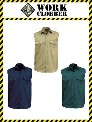 Sleeveless Cotton Drill Work Shirt NEW WITH TAGS!