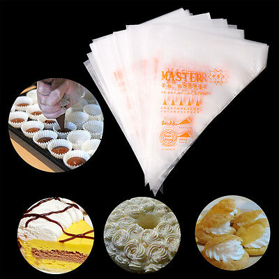 100pcs 3 Size Disposable Cream Pastry Cake Icing Piping Decor Kicthen Bags Tools