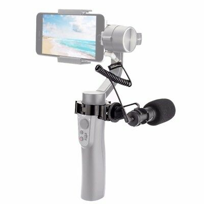COMICA Video Microphone Mic With Adapter Q-Ring Mount for Zhiyun Smooth Q