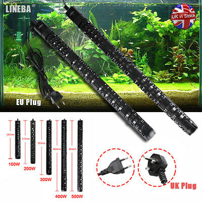 LINEBA Submersible Aquarium Heater 100W - 500W Fish Tank Thermostat EU UK PLUG