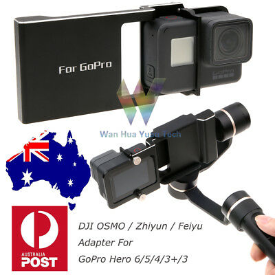 For DJI Osmo Mobile Gimbal& Zhiyun Adapter Gopro Hero 6/5/4/3 Switch Mount Plate