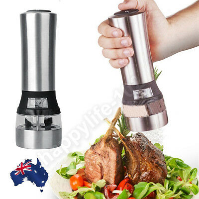 Electric 2in1 Stainless Steel Salt Pepper Mill Grinder Muller Kitchen Hand Tool