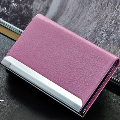 Name Clutch Business Leather PU Aluminum Credit Holder Case Card Box Wallet
