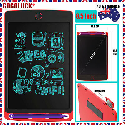 8.5Inch LCD Writing Graphic Tablet Kids Drawing Pad Writing Board AU STOCK