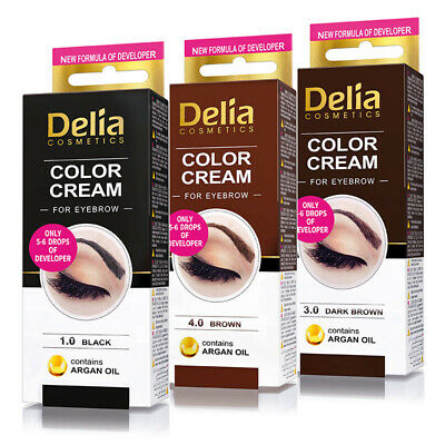 DELIA HENNA CREAM Eyebrow Professional Colour Tint Kit Set Look Like Stars
