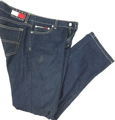 Tommy Hilfiger Womens Vintage Jeans Size 9 Dark Wash 1990s Big Box Tommy Logo (B