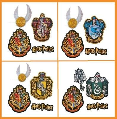 HARRY POTTER Extra Large Embroidered iron on Patch set of 4 patches mega sale
