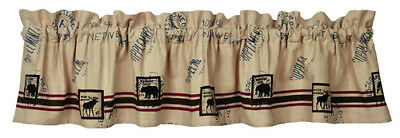 TIMBER TRAIL Country Primitive Rustic Moose Bear Lodge Valance SHIPS FREE
