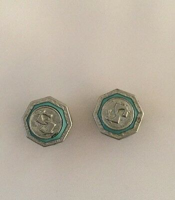 PRES-TO 1920's Cufflinks.Rare And In Super Vintage Condition.
