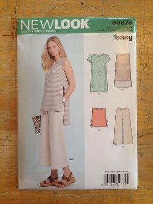 Sewing Pattern Simplicity New Look Pants Top Sleeveless 6 8 10 12 14 16 18