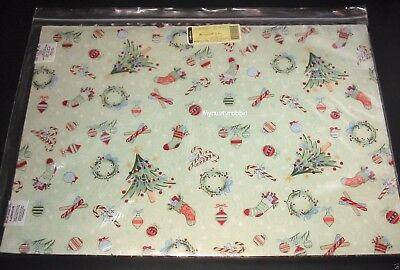 Longaberger Placemats 2 All The Trimmings / Holiday Plaid Fabric