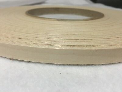 """SIDE EFFECTS Real Wood Edging 3//4 /"""" X 25 /' White Birch Iron On. Pre Glued"""