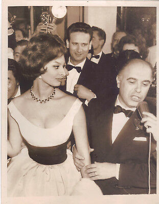 Actress Sophia Loren At Cannes Film Festival, Original Vintage Press Photo.1959