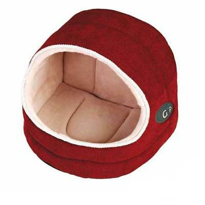 New - Gor Pets - Divani Hooded Bed - Pet bed for Cats & Small Dogs 3 Sizes Coral