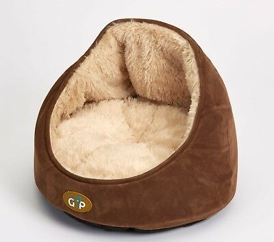 NEW Gor Pets - Nordic Elan Bed - Pet Bed for Cats & Small Dogs - Medium - Brown