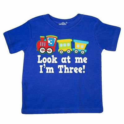 Inktastic 3rd Birthday Train Outfit Toddler T-Shirt 3 Three Look At Me Im Boys
