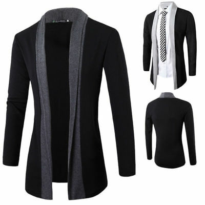 Stylish Men Fashion Knitted Cardigan Jacket Slim Long Sleeve Casual Sweater Coat