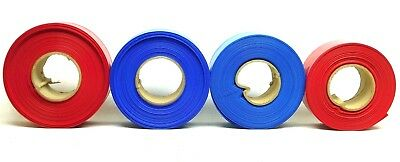 """4 ROLLS! 1/2"""" to 1"""" 6-mil RED & BLUE Pipe Sleeving Cover Sleeve PlumBest (SW)"""