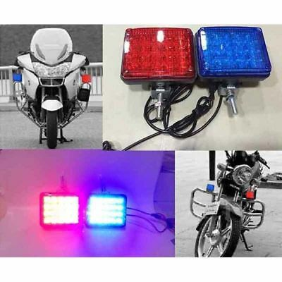 2X 40LED motorcycle strobe lights Led flashing patrol Warning police Lamp 1Set
