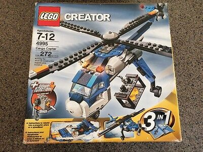 LEGO Creator 4995 Cargo Copter NEW Sealed helicopter boat plane SMOKE FREE