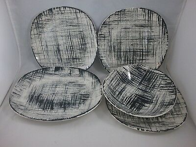 5-Pieces Of Edwin Knowles Ebonette K1007 U.S.A. China
