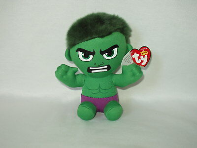 "The HULK 7"" Marvel Ty beanie baby character figure toy MWMT"